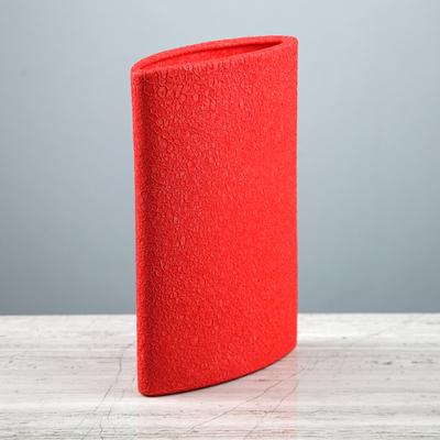 """Ваза """"Стиль"""" шёлк, красная, 23,5 см"""