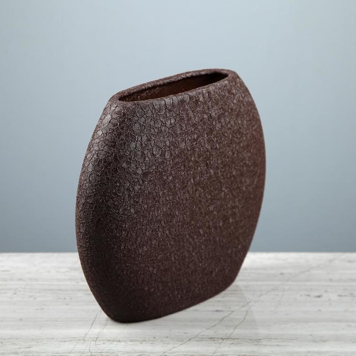 "Ваза настольная ""Классика"", шёлк, шоколад, 20 см, керамика"