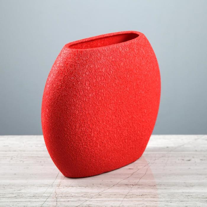 """Ваза настольная """"Классика"""", шёлк, красная, 20 см, керамика"""
