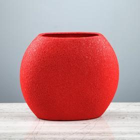 """Ваза настольная """"Классика"""", шёлк, красная, 20 см - фото 1704090"""