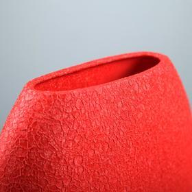 """Ваза настольная """"Классика"""", шёлк, красная, 20 см - фото 1704091"""