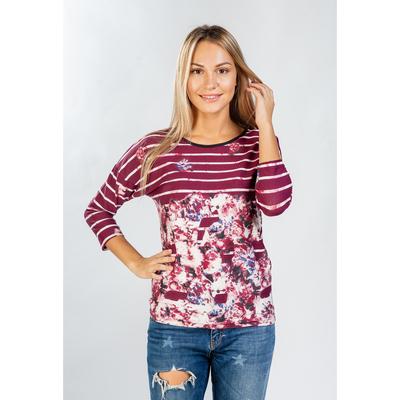 Блуза женская Эдита, цвет бордо, размер 48