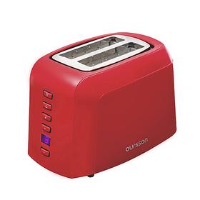 Тостер Oursson TO2145D/RD, 800 Вт, 7 степеней обжарки, 2 тоста, разморозка, красный