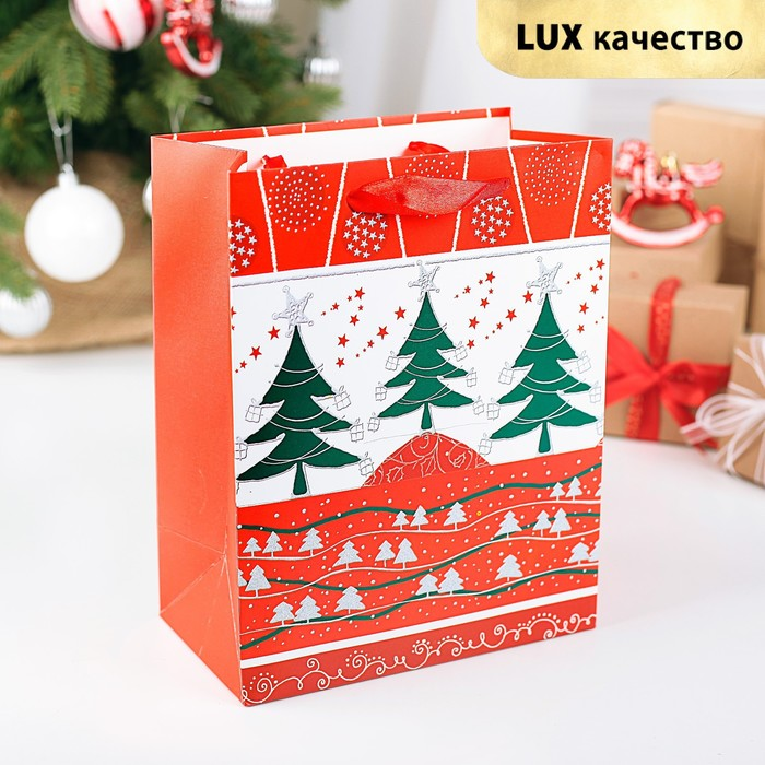 "Пакет ламинированный ""Новогоднее чудо"", люкс, 18 х 10 х 23 см"