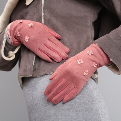 Women's oversized gloves, no padding, touch screen, color powder