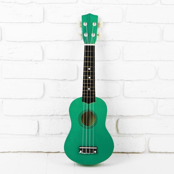 """Игрушка музыкальная """"Гитара"""", цвет зелёный, с нейлоновыми струнами"""
