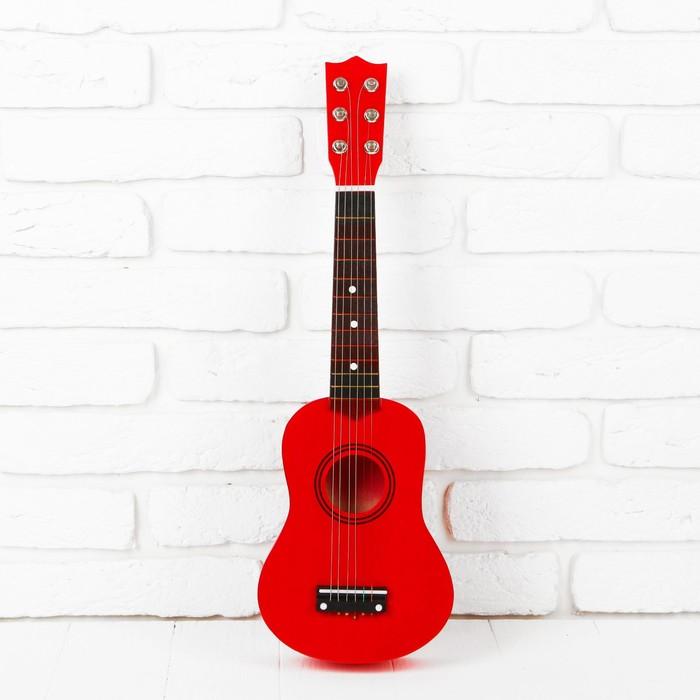 """Игрушка музыкальная """"Гитара"""", цвет красный"""