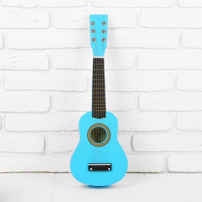 """Игрушка музыкальная """"Гитара"""", цвет голубой"""