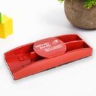 Губка магнитная для магнитных досок + 2 крепления для маркеров, цвета МИКС