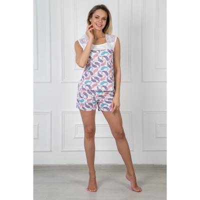 Пижама женская (майка, шорты) Ариэль 324 цвет розовый, р-р 42