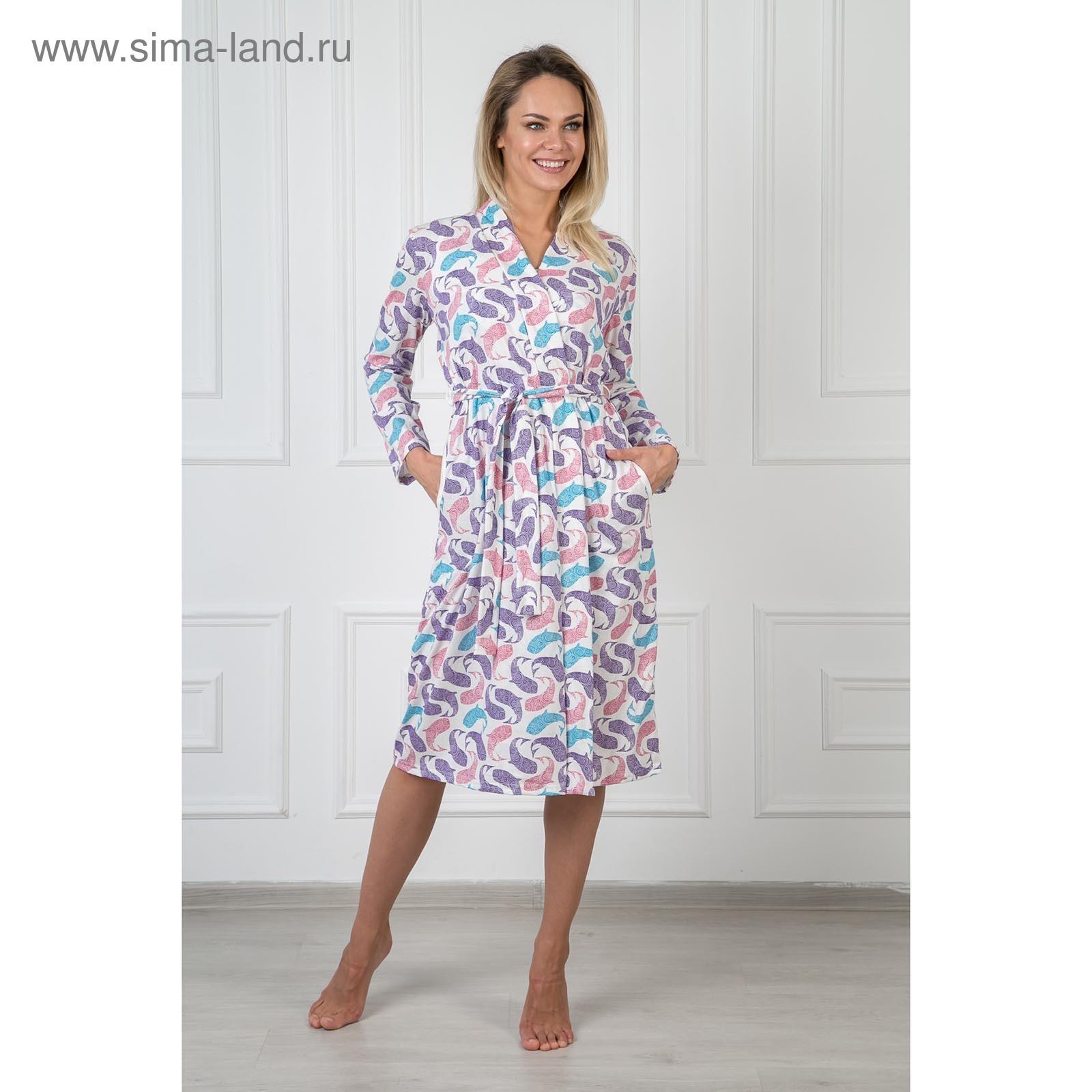 f2b750d2f7636 Халат женский запашной Ариэль цвет розовый, размер 54 (325) - Купить ...