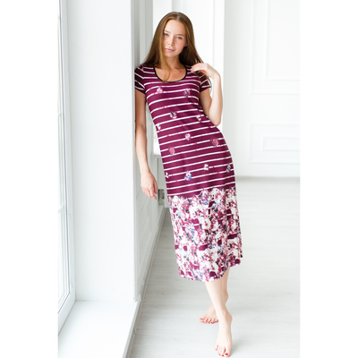 Платье-футболка женское «Эдита», цвет красный, размер 44