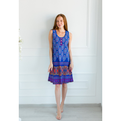 Сарафан женский Агафья-2, цвет синий, размер 56