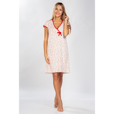 Сорочка женская, цвет бежево-красный, р-р 42