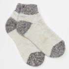 Носки детские укороченные, цвет белый/серый, размер 16-18
