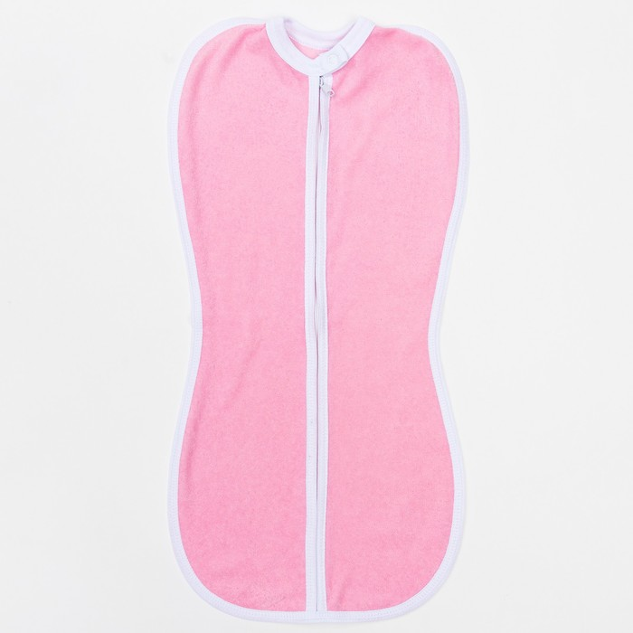 Пеленка-кокон на молнии, интерлок, рост 50-62 см, цвет розовый