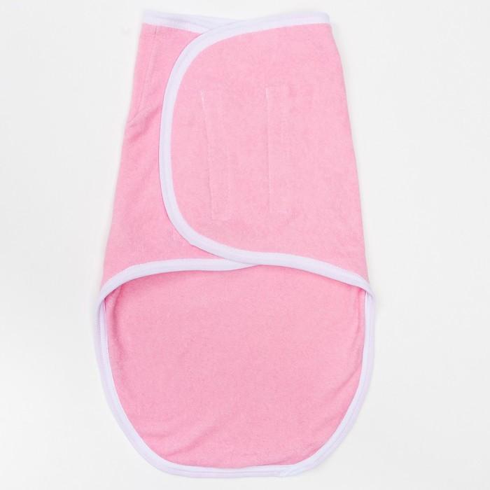 Пеленка-кокон на липучках, рост 50-62 см, интерлок, цвет розовый