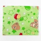 Пеленка, размер 75 х120 см, цвет зеленый принт микс