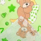 Пелёнка, размер 75 х120 см, бязь, цвет зелёный принт микс - фото 105553296