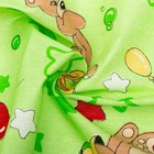 Пелёнка, размер 75 х120 см, бязь, цвет зелёный принт микс - фото 105553297