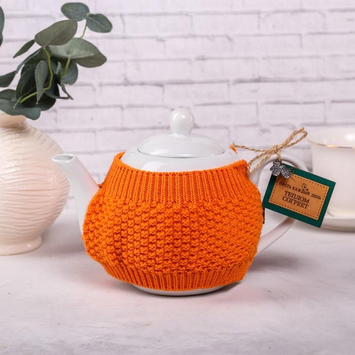 Чайник заварочный «Пусть каждый день теплом согреет», 900 мл