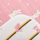 Одеяло лёгкое Крошка Я Зайка розовый 105*108 см, муслин шестислойный, 100% хлопок - фото 105554797