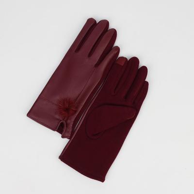 Women's gloves dimensionless, combined, without padding, touch screen, color blue