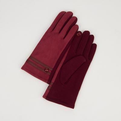 Women's gloves for touch screens, dimensionless, without padding, the color purple