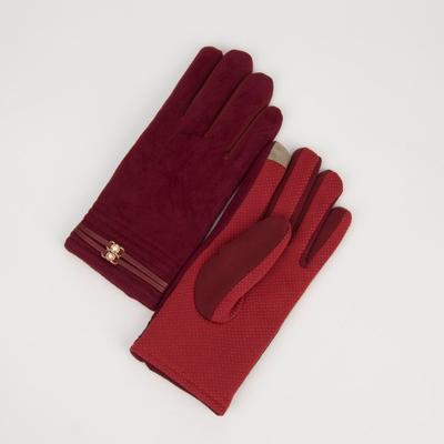 Women's oversized gloves, fleece lining, touch screen, color blue