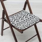 Подушка на стул «Этель» Серпента черный 40х40, с завязками рогожка 160 г/м², 100% хлопок
