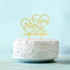 Топпер в торт Mr & Mrs