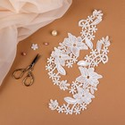 "Sew-on appliques ""Leitza"", 23 × 9 cm, color white"