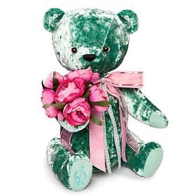Мягкая игрушка «Медведь БернАрт», цвет изумрудный, 30 см