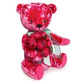 """Мягкая игрушка """"Медведь БернАрт"""", цвет розовый, 30 см"""