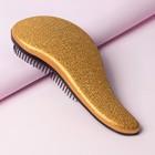 Расчёска-мини, цвет золотистый/чёрный