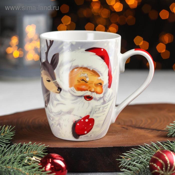 """Mug 350 ml of """"Santa and deer"""""""