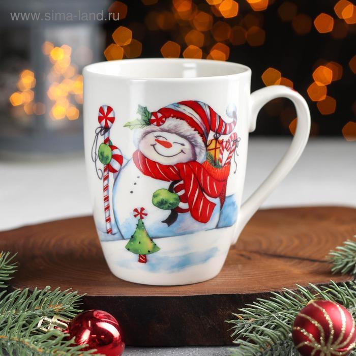 "Mug 350 ml of ""Happy snowman"""