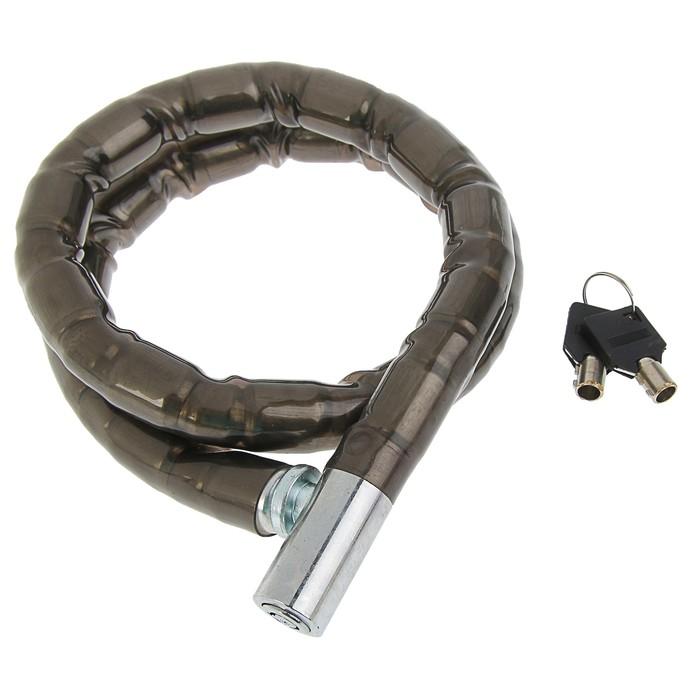 Замок навесной велосипедный TUNDRA, 18 х 1000 мм, специальный ключ с пластиковой ручкой