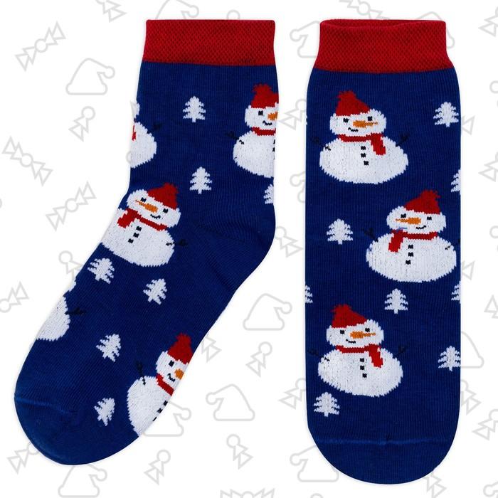 Носки детские KAFTAN снеговик паттерн 14-16 см, 2-3 г., 80% хл.,17% п/а, 3% эл.