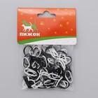 Резинки для животных повышенной прочности, набор 100 шт, микс черные и белые
