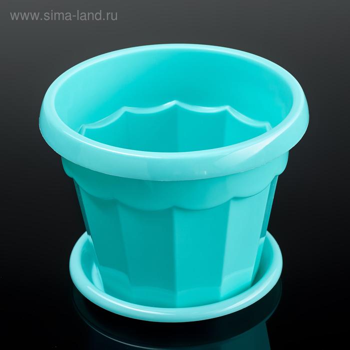 Flower pot is 0.7 l, color turquoise