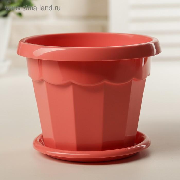 Flower pot is 0.7 l, color coral