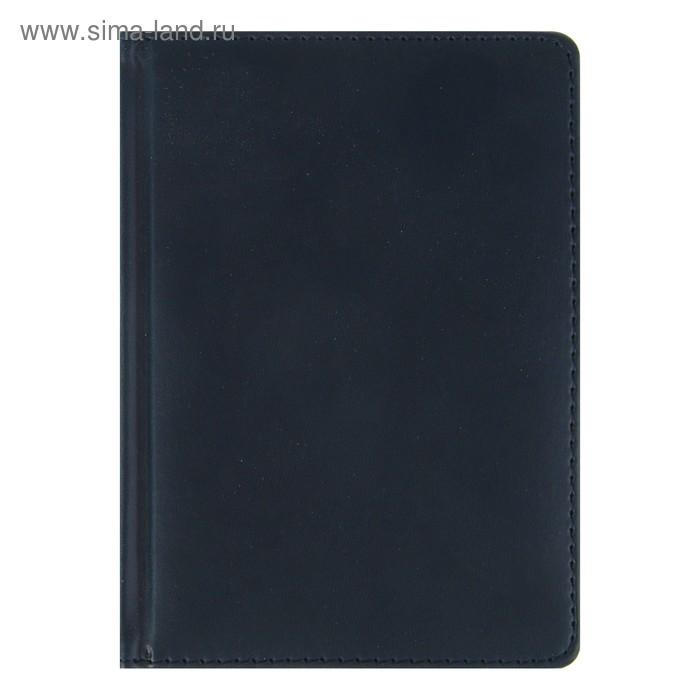 Ежедневник недатированный А6+, 136 листов Velvet, искусственная кожа, тёмно-синий navy