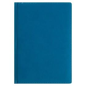 Ежедневник недатированный А5+, 136 листов Velvet, обложка искусственная кожа, синий