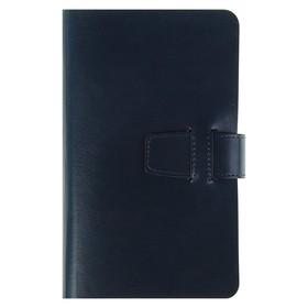 Ежедневник недатированный А5+, 192 листа на гребне Sienna, искусственная кожа, сменный блок, синий