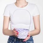 Basket woven bamboo, D13xH9,5/28cm light purple