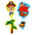 Набор развивающих игрушек для игры в ванной из EVA «Приключения пирата», 5 предметов - фото 105534818
