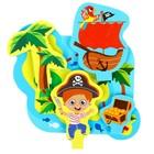 Набор развивающих игрушек для игры в ванной из EVA «Приключения пирата», 5 предметов - фото 105534817