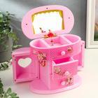 Шкатулка музыкальная механическая «Комод принцессы», розовая, 17,5 × 20 × 11 см - фото 919747