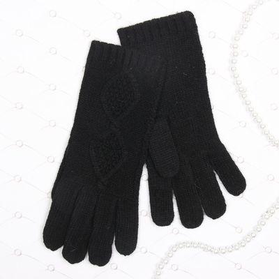 """Перчатки женские """"Айседора"""", размер 18, цвет чёрный 58869"""